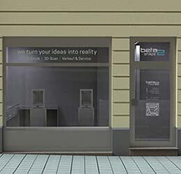 Beta2Shape Showroom Beratung Verkauf 3D Druck service