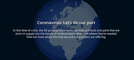 Corona Virus-Aufruf und Hilfestellung von Ultimaker
